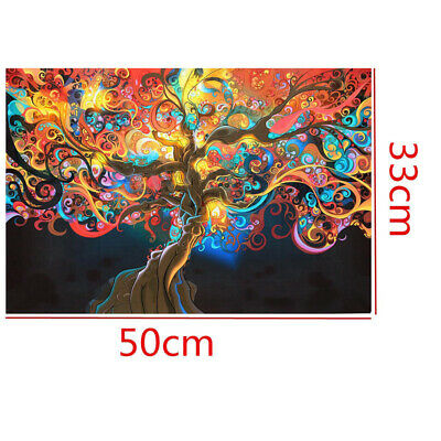 50*33cm Decorative Psychedelic Trippy Tree Abstract Art Silk Cloth Poster Home