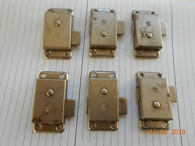 Six Steel Vintage Cabinet Locks