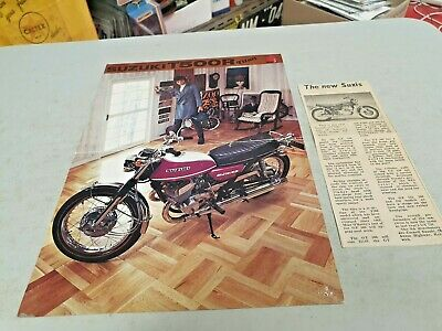1976 ? SUZUKI T500R TITAN  MOTORCYCLE Original Sales Brochure