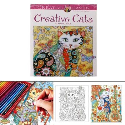 24 Pages Coloring Books for kids Creative Cat Coloring Book Kill Time Painting