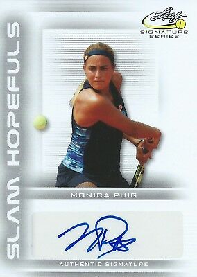 2017 Leaf Signature Series Tennis Slam Hopefuls #SH-MP1 Monica Puig Autographed