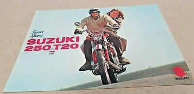 1967 SUZUKI 250 T20 SUPER SPORT Motorcycle Original Sales Brochure RARE