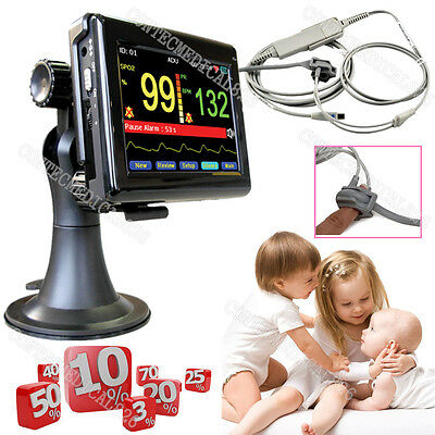 Infant Patient Monitor Pediatric SPO2 Pulse Monitor Blood Oxygen Oximeter Touch