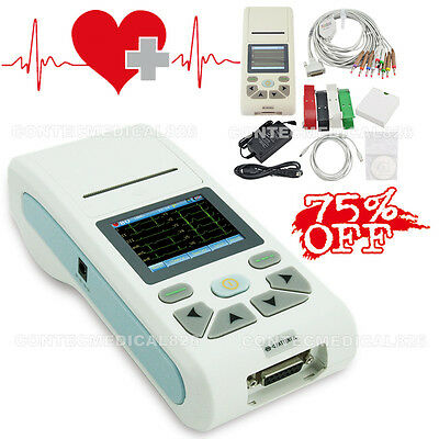 Touch Color Handheld EKG Machine Single Channel ECG Electrocardiograph+Software