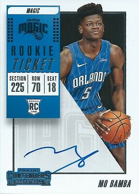 2018-2019 Panini Contenders Rookie Ticket RC Mo Bamba Autograph Magic NBA