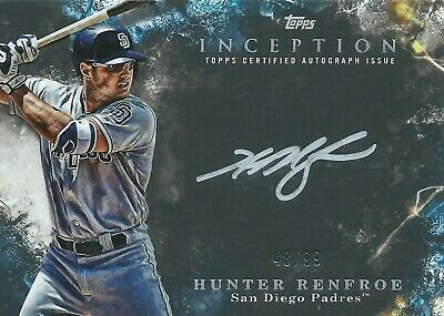 2018 Topps Inception Silver Signings Hunter Renfroe Autograph 48/99 Padres MLB