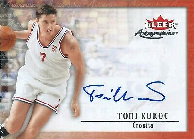 2013-2014 Fleer Retro Autographics Toni Kukoc Croatia National Team NBA