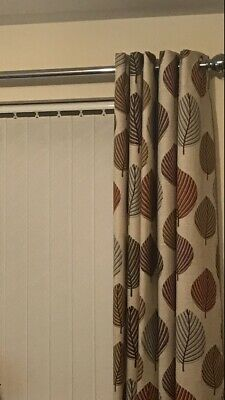 Dunelm Leaf Regan Fully Lined Eyelet Curtains 66 X 54 Cream Terracotta Dark Red