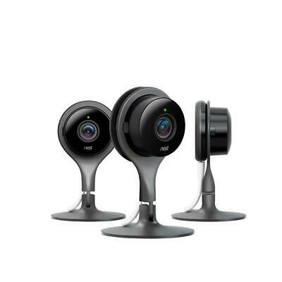 Nest Smart Wi-Fi Security Camera 1080p HD 130º Viewing Plug-In Power (3-Pack)