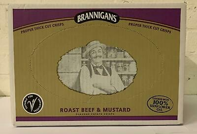 Brannigans From Mccoy's Roast Beef and Mustard Flavour Potato Chips 40g 18pk