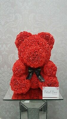Red Rose Bear Teddy Bear Large Huge Luxury  40cm Foam Bear Forever Bear Gift