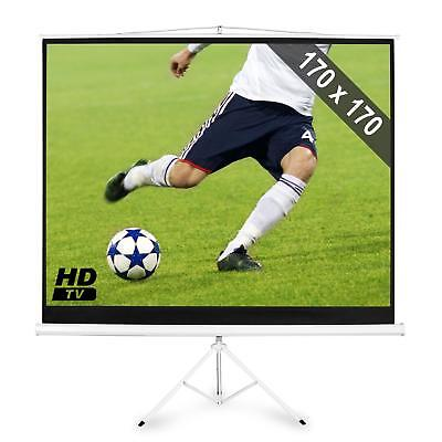Ecran Projection Video Sur Pied 244Cm 170X170Cm 1:1 Home Cinema Projectiescherm