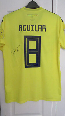 1e5080c44 Signed ABEL AGUILAR Columbia 2018 wolrd cup home Shirt with Exact Proof!