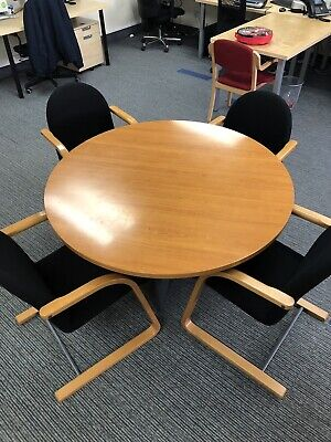 Round Office Table Including Four Chairs