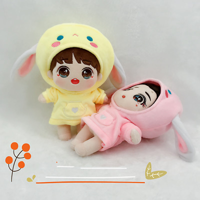 KPOP EXO Shinee NCT BTS Plush Doll's Clothes Cute Rabbit Pullover Hoodie【no doll