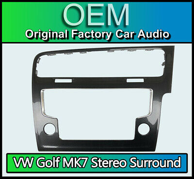 VW Golf MK7 display screen trim surround air vent, Carbon Black, VW 5G2 819 743
