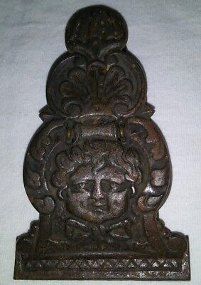 Antique Cast Iron Victorian Paper Letter Holder Clip Tatum Doll Office Home Deco