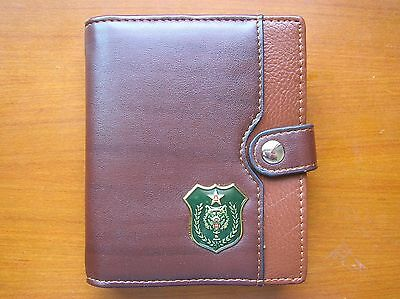 07's series China PLA Special Forces Wolf Badge Officer Genuine Leather Wallet,B