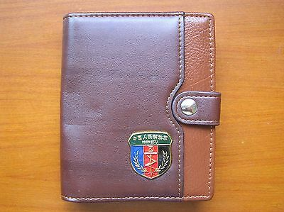07's series China PLA Special Forces Badge Officer Genuine Leather Wallet,B