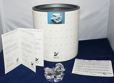 "Swarovski Crystal 1991 ""Save Me"" Collector Society SEALS Figurine D01X911 in Box"