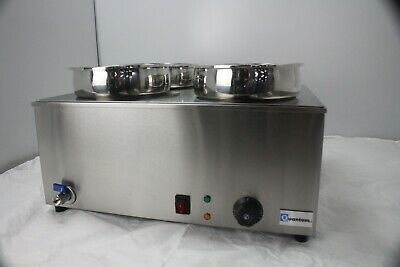 Electric Table Top 4 Round Pot Wet Well Commercial Bain Marie 7 Litre Pots