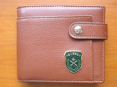 07's series China PLA Army Badge Officer Genuine Leather Wallet,AAAA