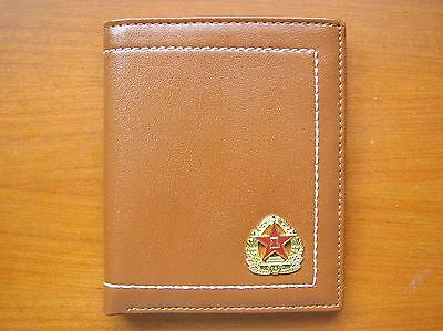07's series China PLA Army Badge Officer Genuine Leather Wallet,BB