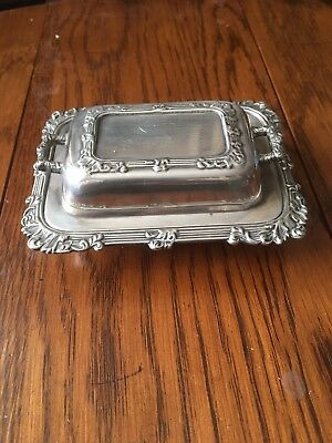 Vintage Ornate Small Butter Dish By JBC & S Ltd 1960's EPNs