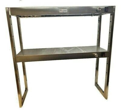 Heated Gantry Two Tier Both Heated Chef Pass 910mm Wide 3 Foot