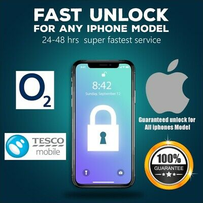O2 UK Official Factory Unlock code for iphone X,8,7,7+6S,6S+,6,6,SE,5S,5C 24Hrs