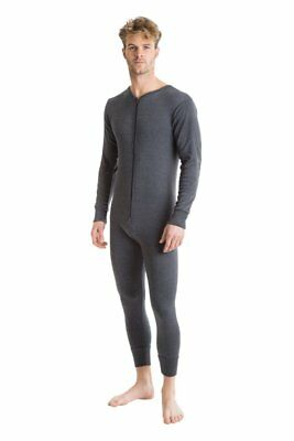 OCTAVE® Mens Thermal Underwear All In One Union with Zipped Back Flap