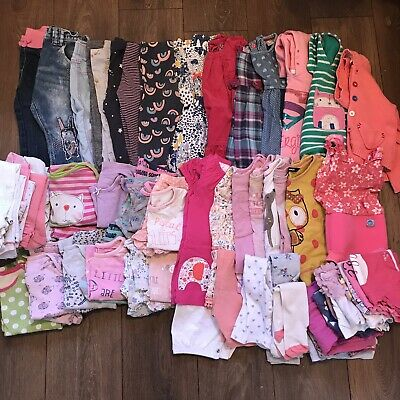 Beautiful Large Bundle Of Baby Girls Clothes 12-18 Months Over 60 Items