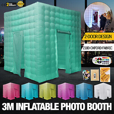 2 Doors Inflatable LED Light Photo Booth Tent 3M Fun Events Oxford Fabric US