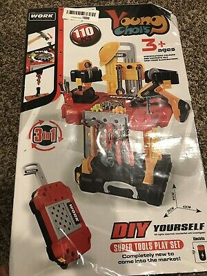 0322c9068a7db Young Choi s Toy Power Workbench Kids Construction Set 110 Piece