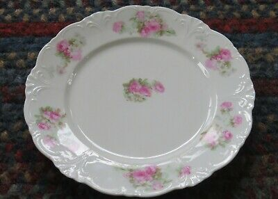 "Vintage Wheelock Plate Vienna Hand-Painted Floral China 9"" Made for McCromey's"