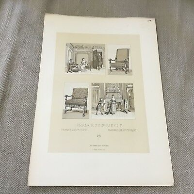 Antique Print Versailles Palace Interior Marie Antoinette Racinet Firmin Didot