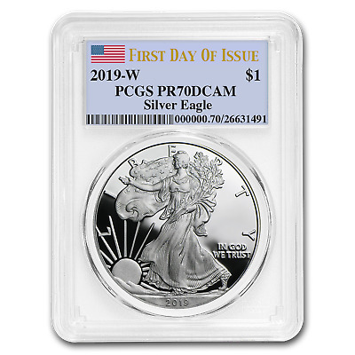 2019-W Silver American Eagle PR-70 PCGS (First Day of Issue) - SKU#177828