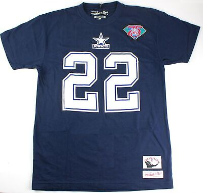 55d900485 Mitchell   Ness Emmitt Smith Dallas Cowboys  22 Men s Throwback T Shirt -  Large
