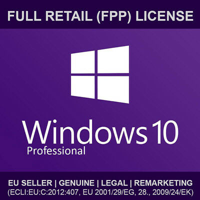 Windows 10 Professional Retail (Fpp) License Key Original Win 10 Pro Activation