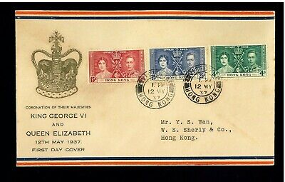 ( Hkpnc ) Hong Kong 1937 Coronation First Day Cover 2