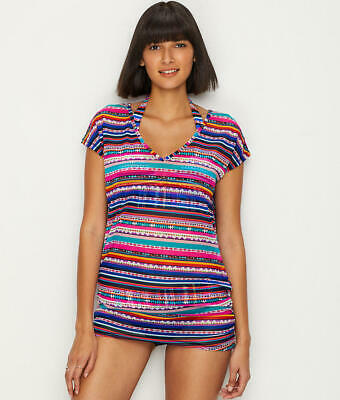 c4c33a99ae ANNE COLE SIZE L Braided Stripe Tankini & Loop Side Hipster Swimsuit ...