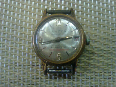 gold plated Vintage Old Swiss made women Wrist Watch ARTEN AUTOMATIC-10МК