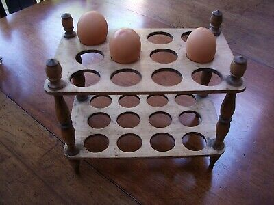 Antique VictorianTreen WoodenTwo Tier Egg Rack