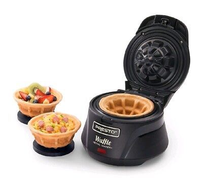Belgian Waffle Bowl Maker Electric Iron Press Kitchen Counter Top Non Stick NEW.