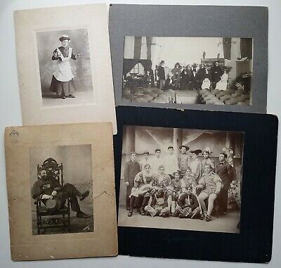 Vintage Theatre Stage Play Clown Actors Actresses 6 Antique Theatrical Photos