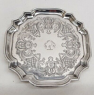 Antique George II Silver Salver Made by JOHN TUITE London 1729. Stock ID 9338