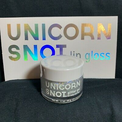 FCTRY Silver Unicorn Snot Glitter Gel for Face Body Hair Cosplay Raver Sparkle