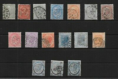 ITALY - 1863-77 Victor Emmanuel II Definitives - Complete Set to 2L+ More - VFU