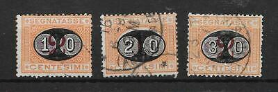 ITALY - 1890 Postage Dues - Complete Surcharged Set - VFU