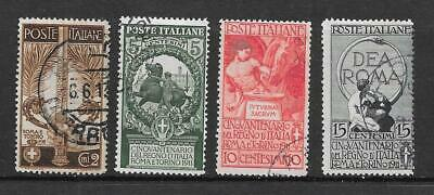 ITALY - 1911  Jubilee of Italian Kingdom - Complete Set - VFU